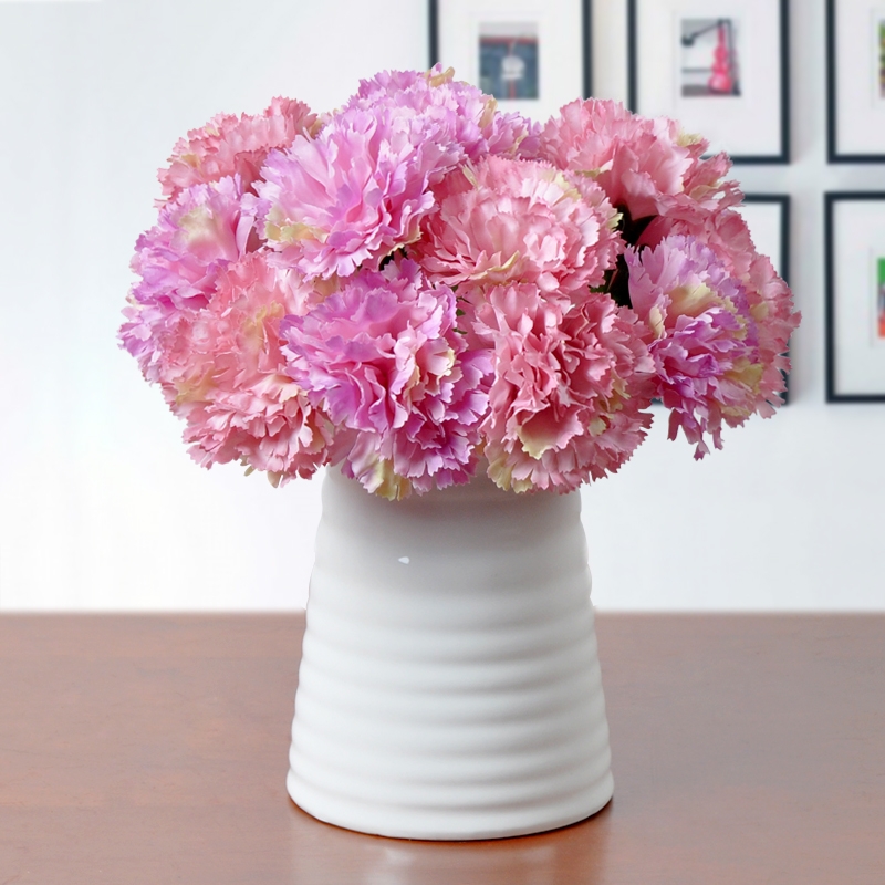 Plucking carnation artificial flowers artificial flowers floral decoration flower home living room table decoration flower vase fake flowers