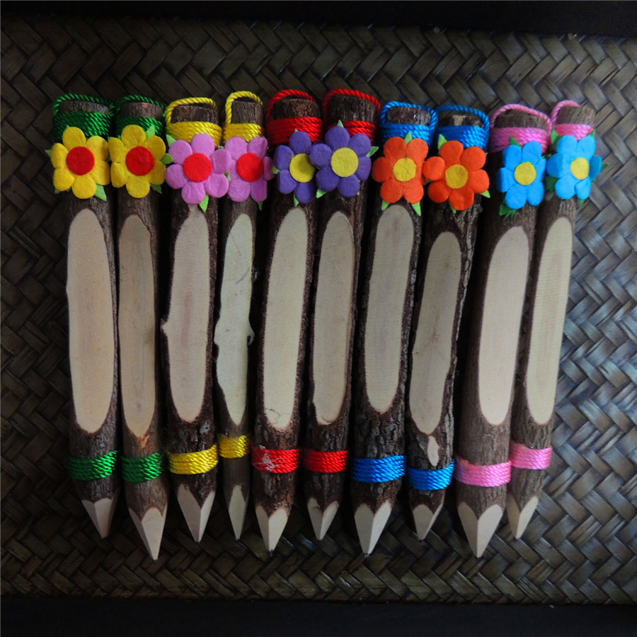 Poem maha thai handicraft souvenir jewelry small gift chiang mai thailand logs pencil decorated tuba