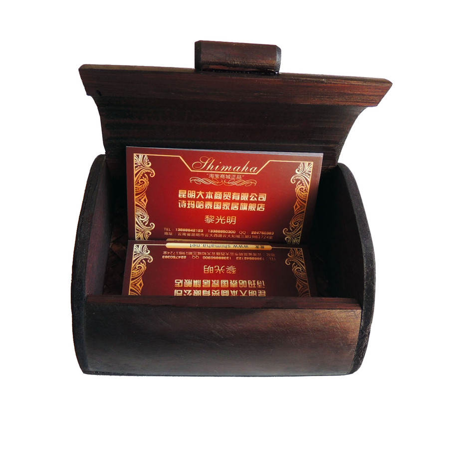 Poem maha thailand imported commodities southeast asian style bamboo handicrafts gift card case storage box