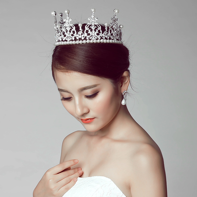 Poetry jiaqi na same paragraph baby crown headdress korean wedding jewelry wedding hair accessories bridal wedding accessories