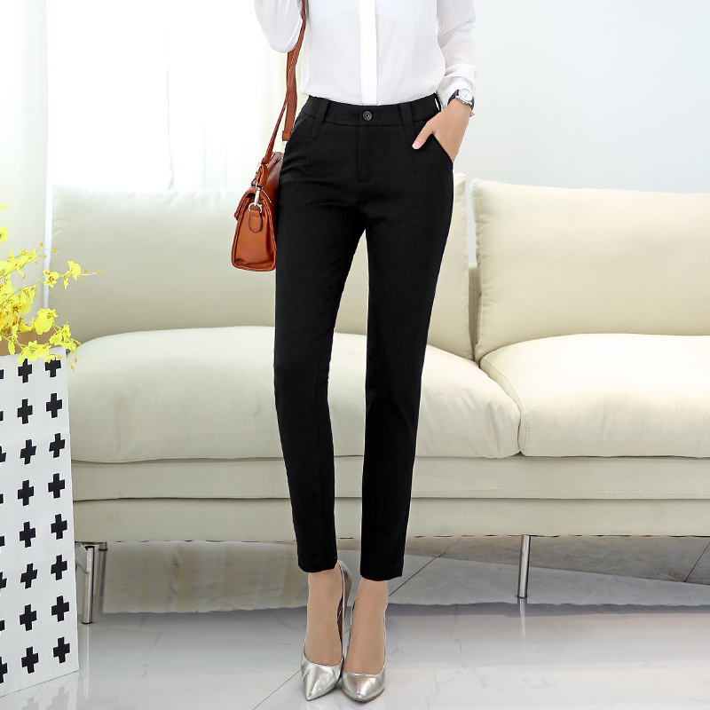 Poetry muya black ol 2016 autumn new pants feet pencil pants casual student was thin pantyhose female autumn