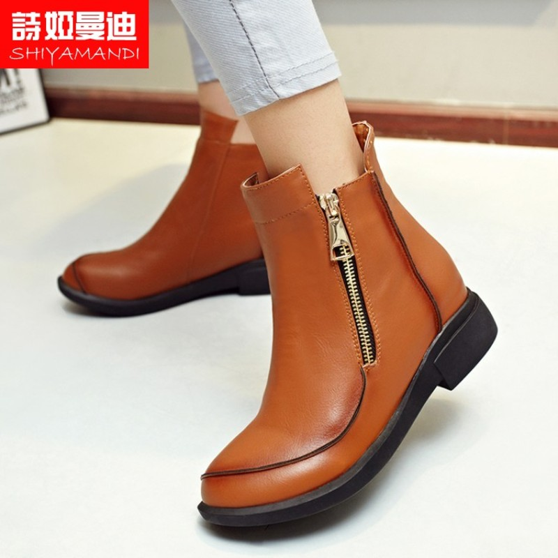 Poetry ya mandi shoes flat shoes painted shoes casual fall and winter duantong boots boots genuine tide brand influx of fine fashion