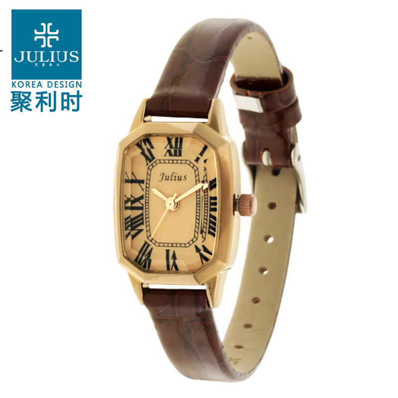 Poly lee ladies watch ladies watches korean fashion retro trend of female students watch strap quartz watch waterproof fashion watch