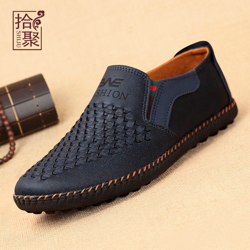 Poly pick old beijing shoes men shoes elderly father spring and autumn breathable men's casual shoes set foot cloth shoes Male