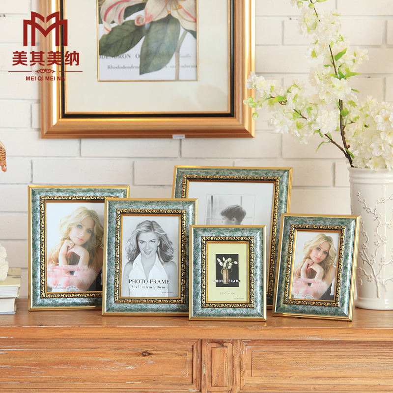 Polymer frame 5/6/7/8/10 inch photo wall frame wall/swing european american neoclassical trade
