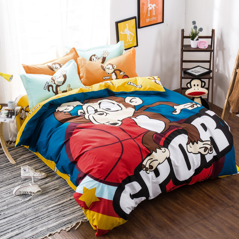 Popeye fashion textile bedding cotton reactive printing a family of four european and american pieces of sets of bed linen quilt winter