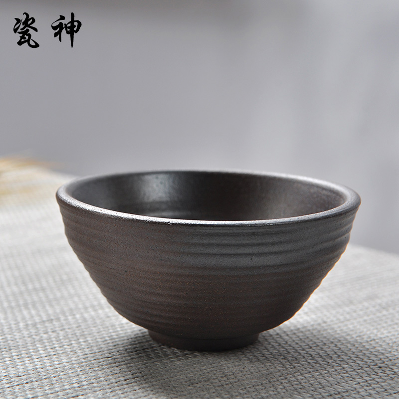 Porcelain god firewood handmade japanese tea ceremony tea cup antique stoneware ceramic tea cup taiwan tea cup single cup specials