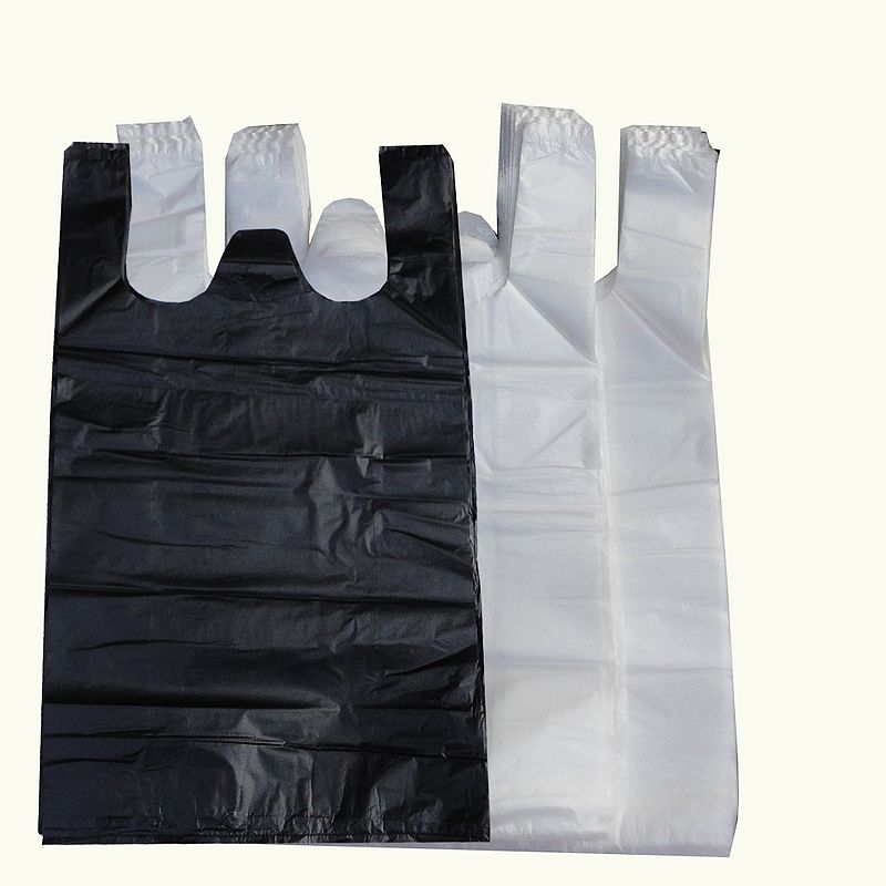 Portable household garbage bags vest thick black plastic vest bags of garbage bags hotel property sanitation