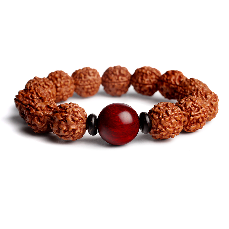 Positive good living authentic natural nepal donkey kong pu tizi original seed lap beads bracelets hand chain of men and women
