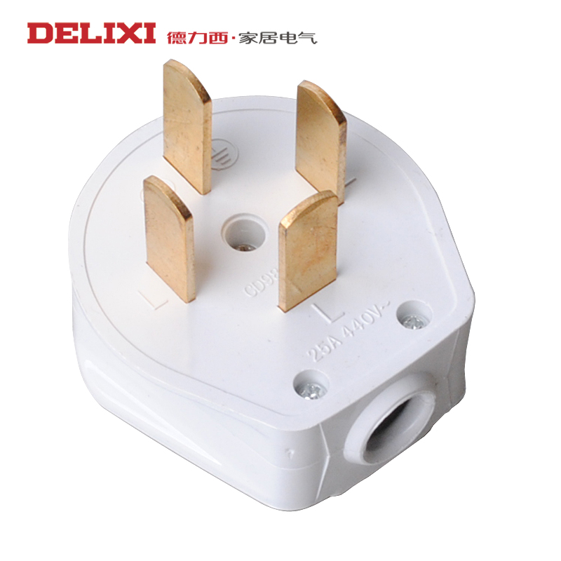 Positive moral force west phase four wire plug and socket four holes 25a 380 v 3 phase 4 wire power cord plug four