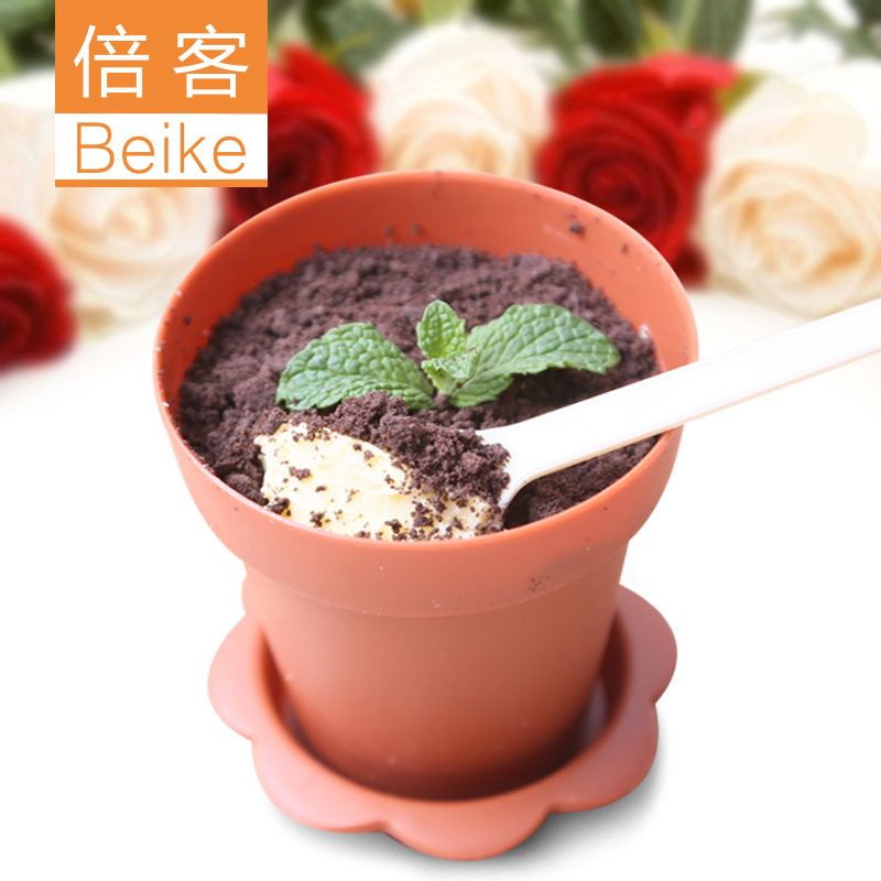 Potted flower pots misiti academythe minone cup ice cream cup with lid sent shovel creative baking tool 5 loaded