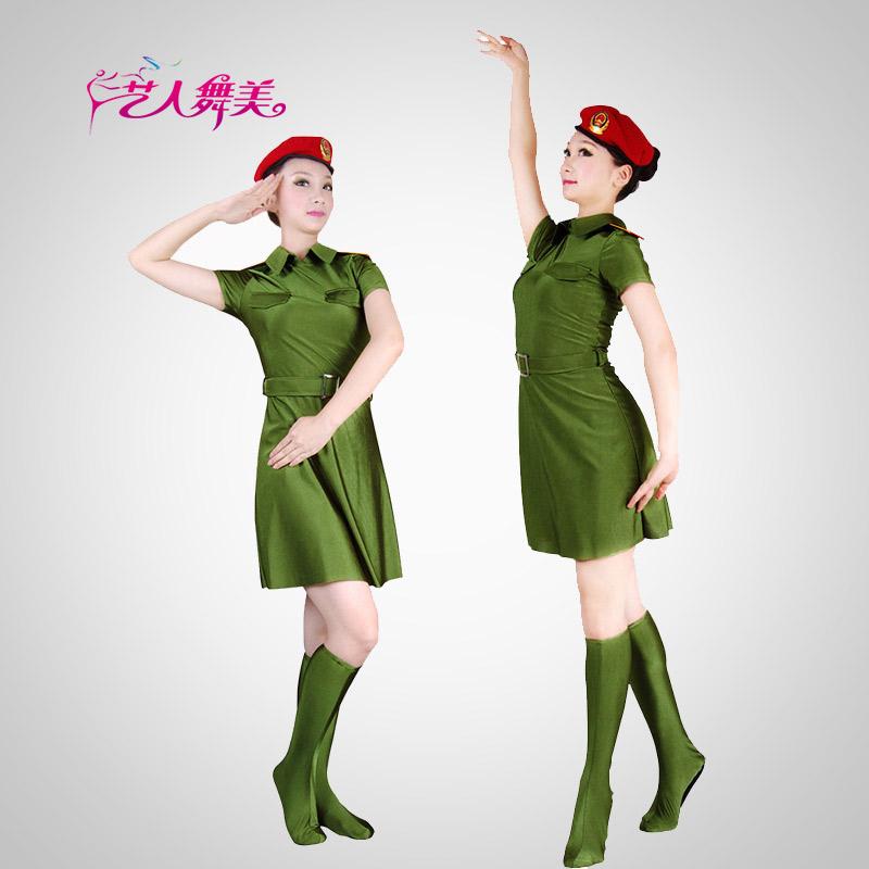 Pre-2015 army barracks army costumes female costumes performance clothing stage clothing women