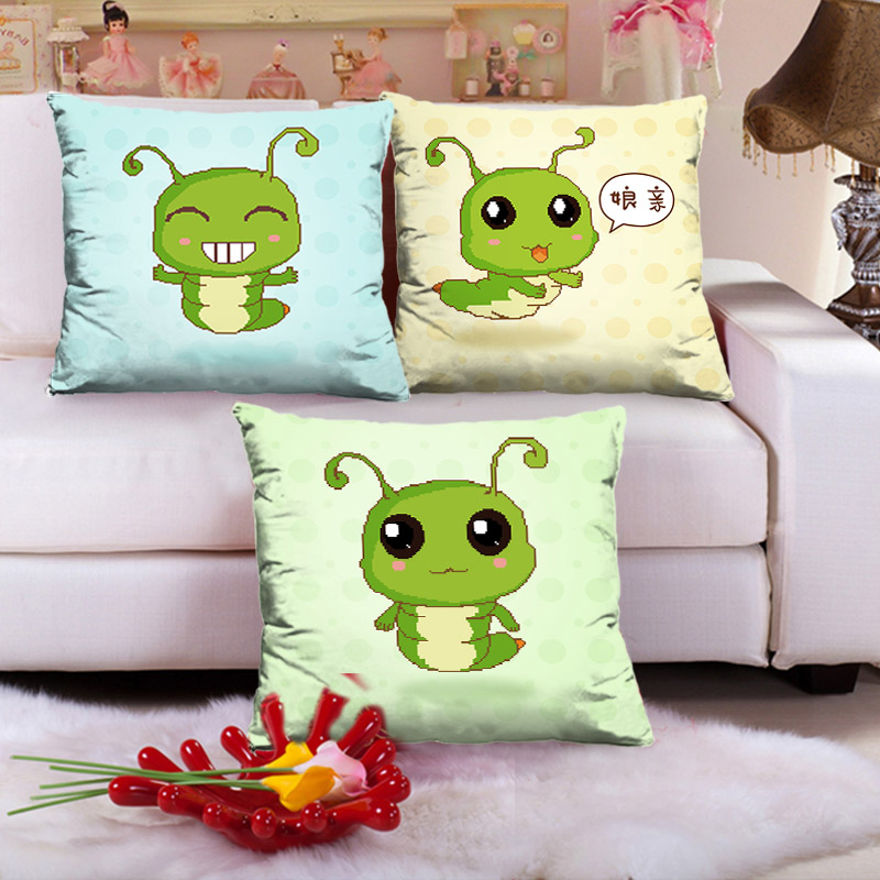 Precision printing stitch pillow one pair of cute cartoon 3d stitch living room pillow cushions caps sugar treasure