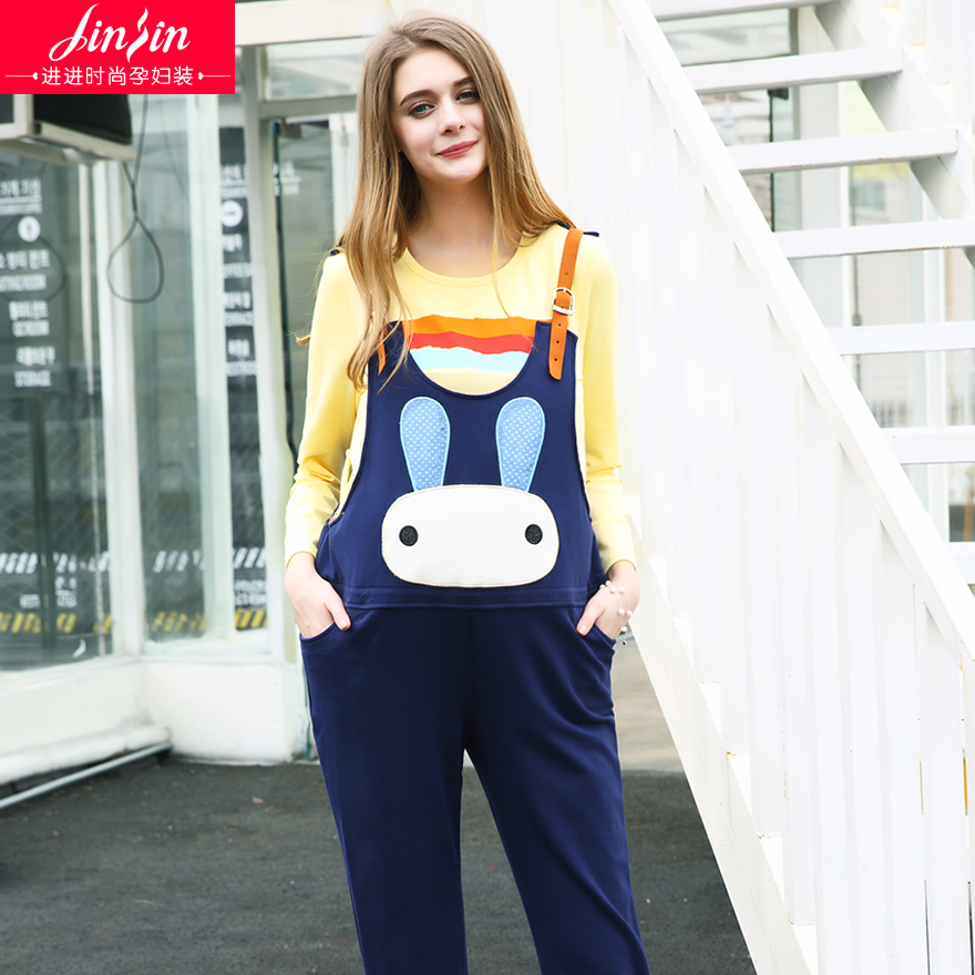 2230d3de65c79 Pregnant maternity overalls maternity pants maternity leggings spring thin  section trousers big yards prop belly pants