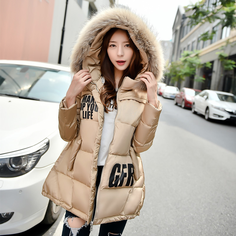 Pregnant women jacket korean fashion loose pregnant women pregnant women winter coat women down jacket winter season long section of a word version