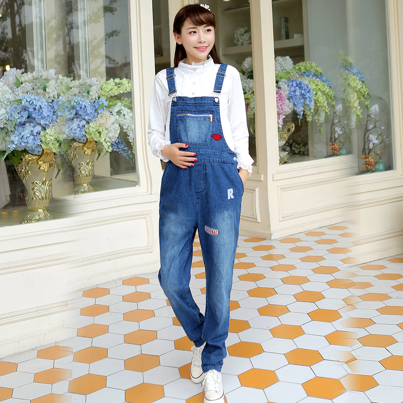 727e36835441 Get Quotations · Pregnant women pregnant bib overalls denim overalls  maternity pants maternity hitz korean yards pregnant women pants