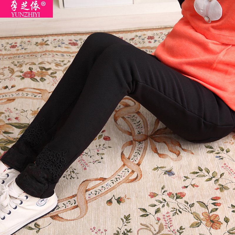 Pregnant women winter pants pants fall and winter outer wear velvet trousers winter care of pregnant women pregnant women pencil pants plus velvet pants female feet