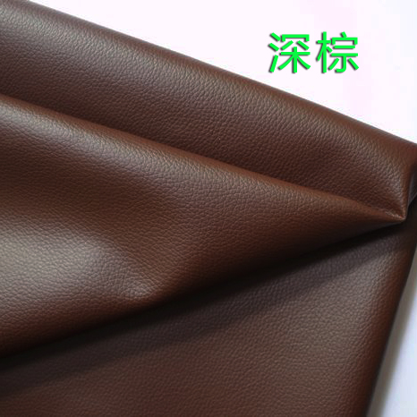Price of half dark brown pu leather fabric roolls small embossed faux leather automotive leather leather