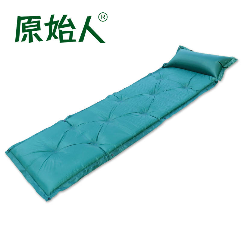 Primitive outdoor single automatic inflatable cushion moisture pad tent pad double indoor and outdoor camping sleeping pad