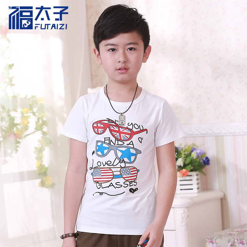 Prince fu kids boys short sleeve t-shirt children's casual t-shirt big virgin 2016 summer shirt