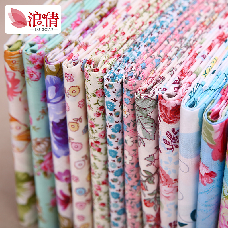Printed cotton fabric bedding fabrics pastoral floral cotton fabric baby clothing children (flower section