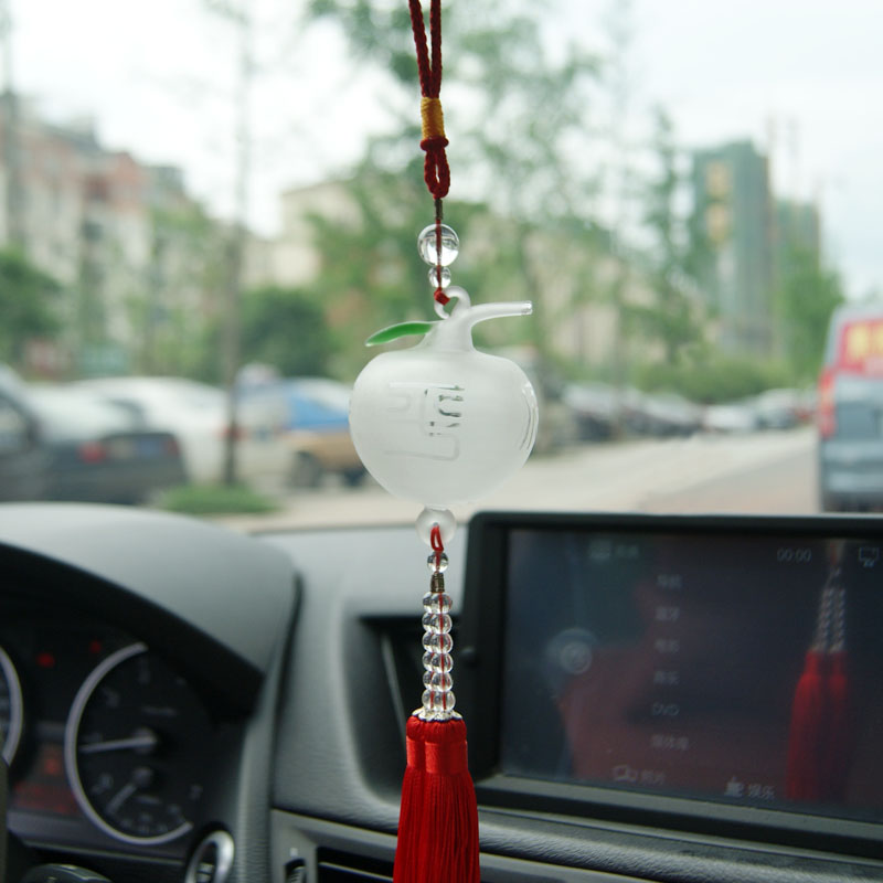 Proton car glass apple car ornaments adios car ornaments creative jushi supplies automotive glass pendants