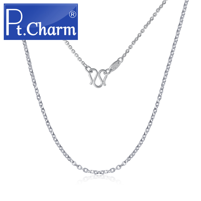 Pt. charm platinum pt950 platinum necklace female models clavicle chain necklace o word fashion wild couple birthday