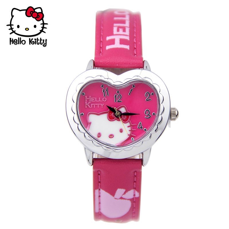 Pupils cute cartoon princess hello kitty girl child watches waterproof watch hello kitty watch girls watch
