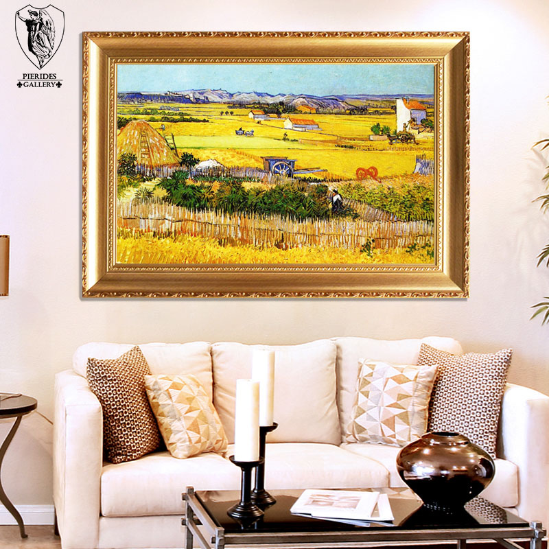 Puri fernandez pure hand painted oil painting van gogh impression painting decorative painting the living room entrance continental genuine bumper