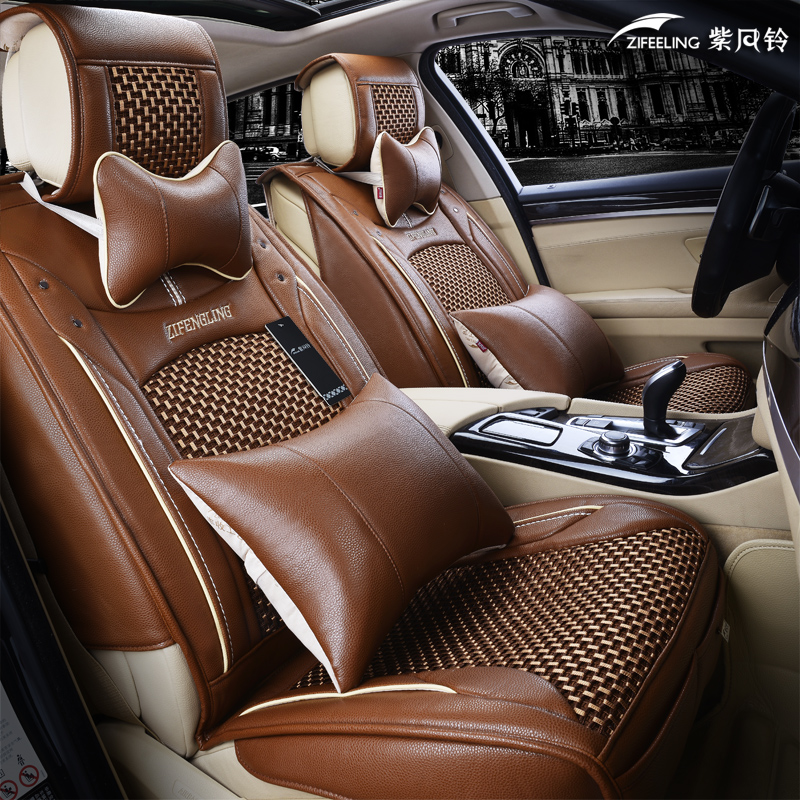 Purple bells full 3d ice silk leather qi ling domain tiger collection jmc yusheng new s350 car seat cushion