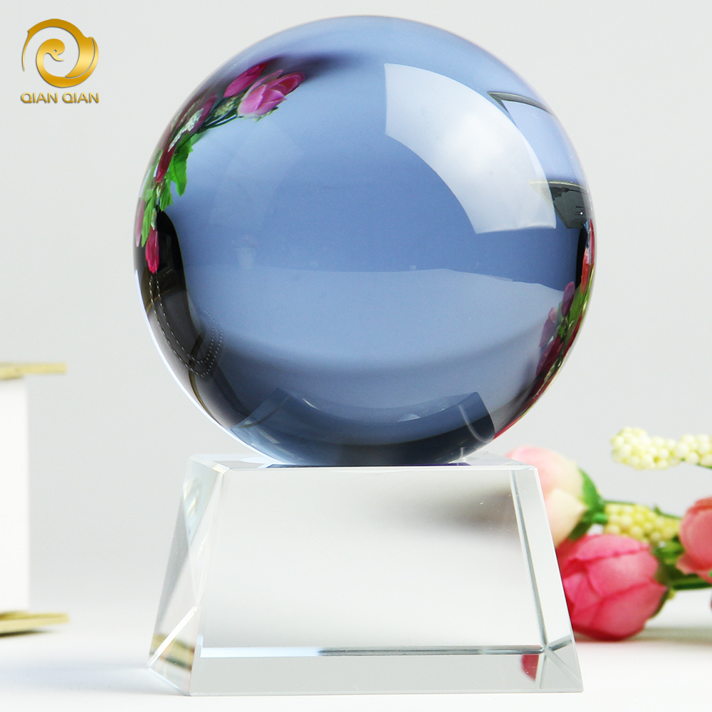 Purple crystal ball feng shui lucky craft living room furnishings creative home decorations ornaments wedding wedding gift