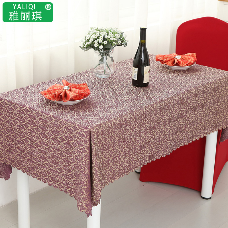 Purple western hotel table cloth tablecloth hotel tablecloth round table cloth tablecloth continental meal table cloth tablecloths coffee table office