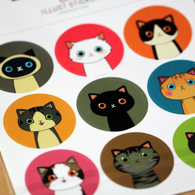 Q version of the small animal stickers exquisite handmade diy accessories slim cute sticker diary stickers 2 into