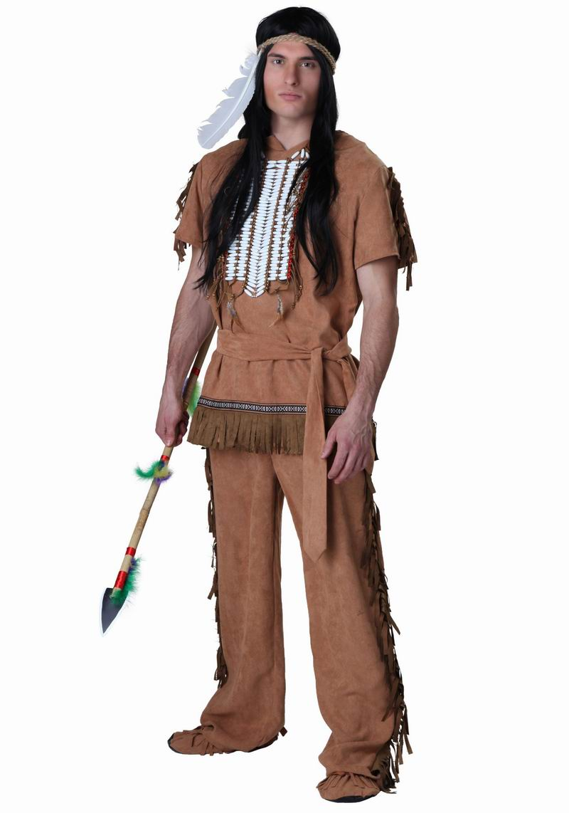 Qi county cos halloween costume masquerade primitive indigenous chiefs clothing savage indian clothing