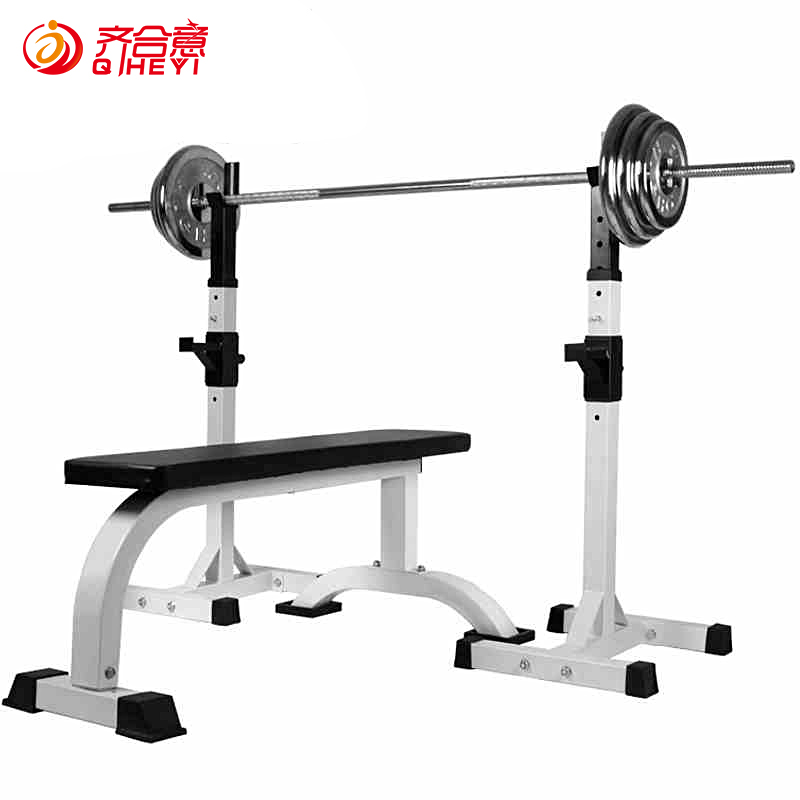 Qi desirable multifunctional barbell bench press rack barbell squat rack weightlifting bed home fitness equipment plating barbell