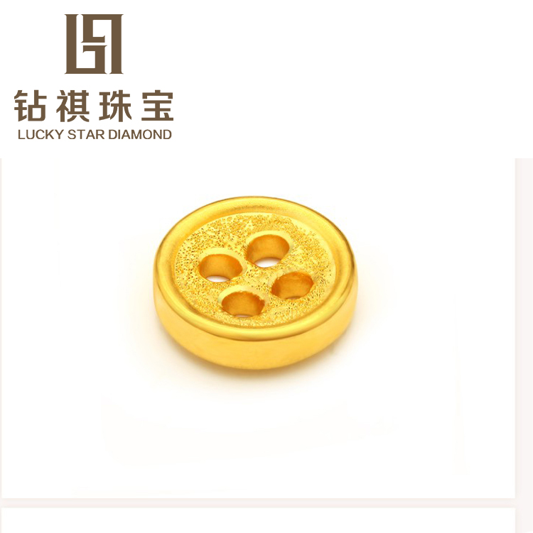 Qi diamond 3d hard gold jewelry gold 999 gold pendants gold coin pinocchio same paragraph transfer beads hand rope bracelet