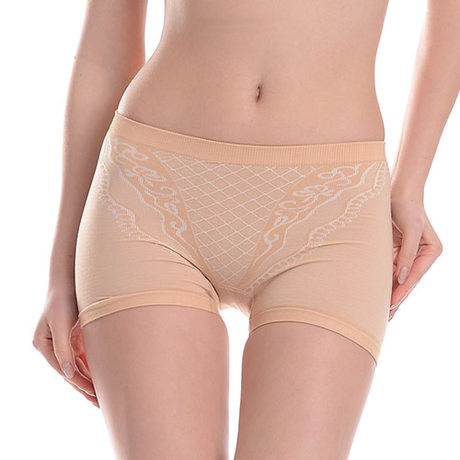 Qi scene within boxer body sculpting underwear female models breathable and comfortable bamboo fiber underwear waist pants female underwear abdomen