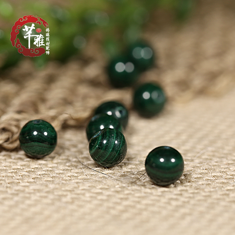 Qian ya 3a natural malachite beads loose beads diy accessories spacer beads bracelet necklace special ballpoint pen