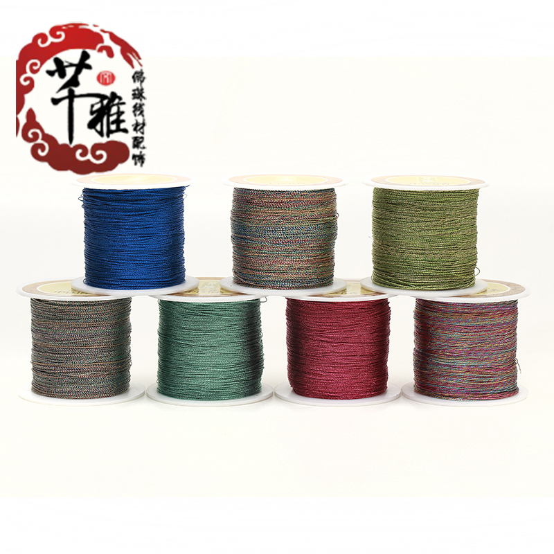Qian ya silver color line diy hand woven rope accessories gold thread winding wire strand tassel cord multicolored