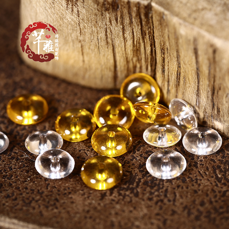 Qian ya synthetic citrine crystal white 6-11mm 8mm spacer beads spacer spacer spacer beads xingyue bodhi accessories
