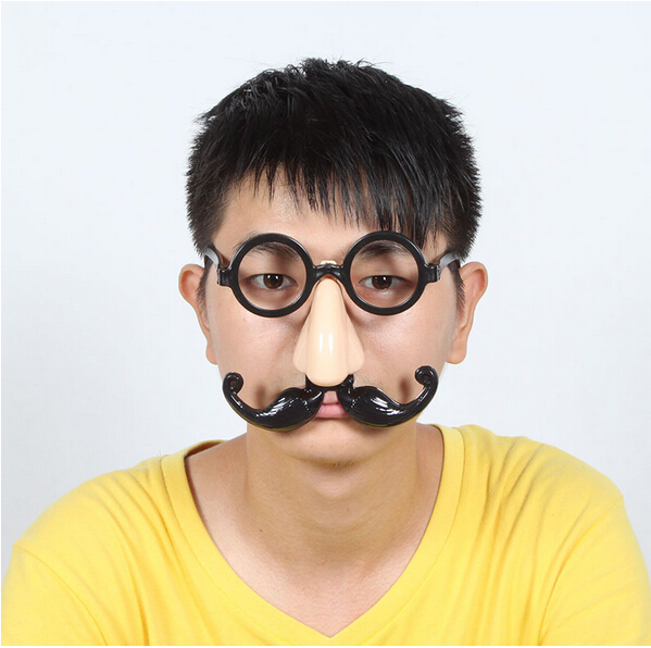 Qiao shi ting halloween dance glasses/funny glasses/glasses accessories entertainment witch nose beard glasses