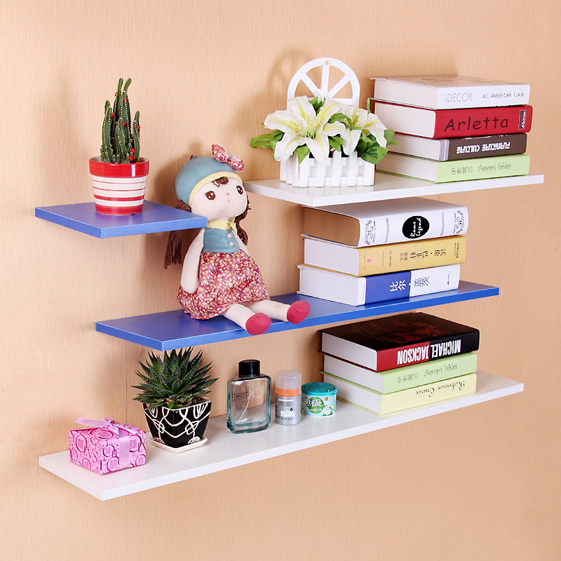 Qin yan wall shelves word clapboard clapboard shelf stb wood bedroom living room background decorative wall shelf closet