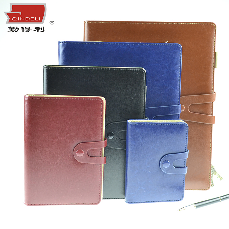 Qindeli takou ticklers imitation leather pu strap creative business office notebook b5 binder diary