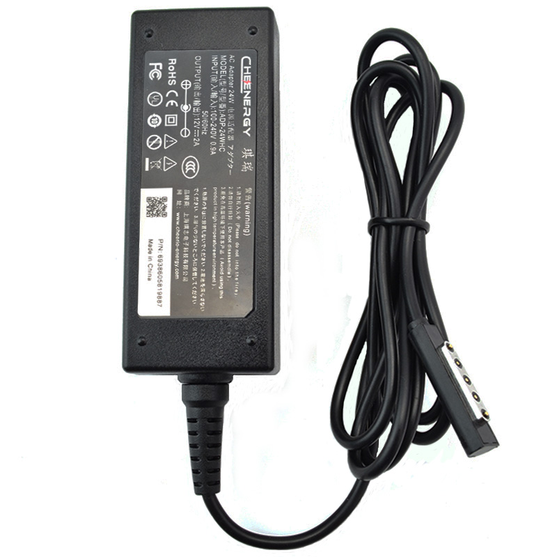 Qirui microsoft surface 2 rt/pro2 12v2a 24W notebook power adapter charger cord