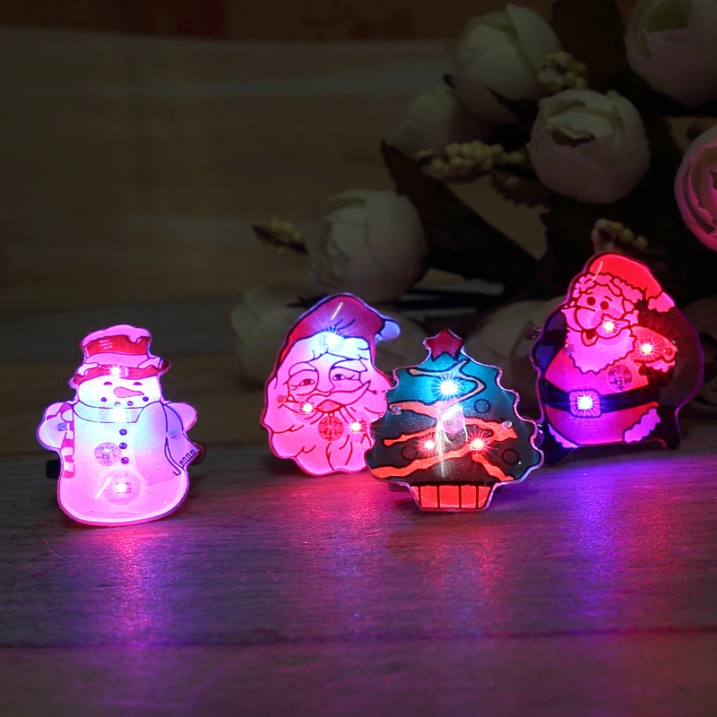 Qixuan bright flash badge brooch brooch santa claus christmas brooch brooch badge fluorescence