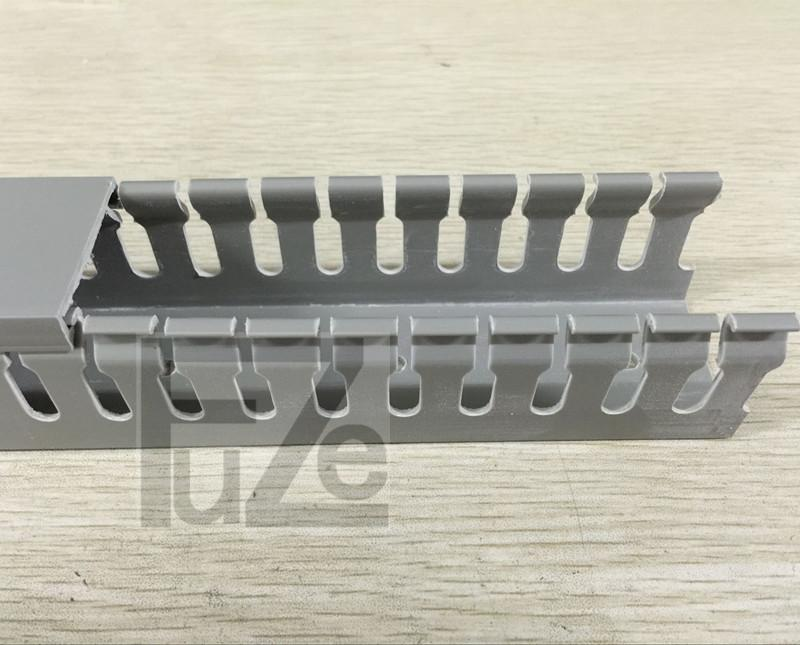 Quality pvc trunking h50 * w100 trunking gray cable trough cable tray with trough