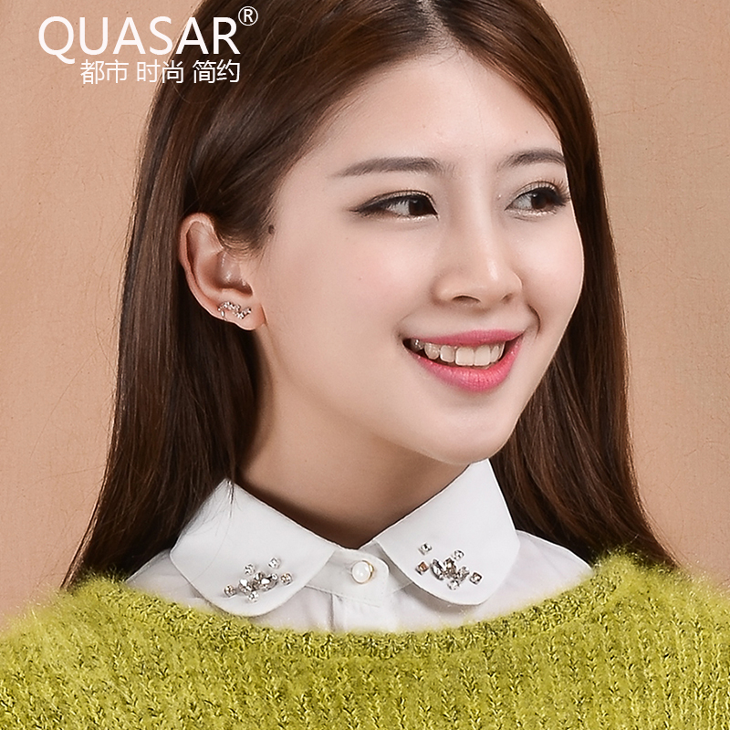 Quasar korea fake fake collar white shirt black fake collar blouse fake diamond pearl collar spring and winter