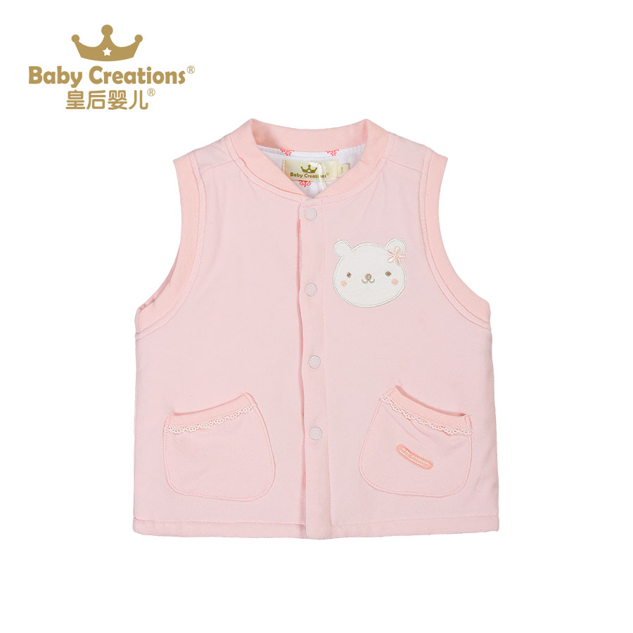 Queen of the baby in autumn and winter models female baby cotton quilted vest vest waistcoat V5813G