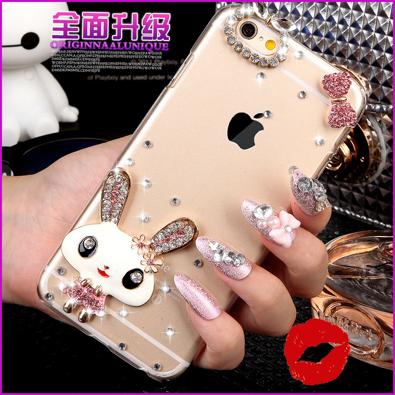 R7 splus oppor7plus phone shell popular brands of soft silicone s rhinestone lanyard influx of female models diamond oppo