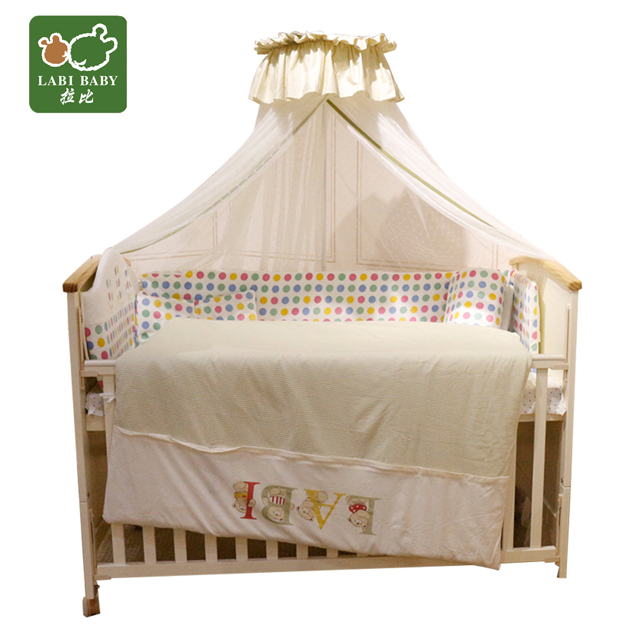 Rabbi rabbi newborn hercribon hercribon versatile game new zealand pine wood crib crib children